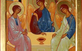 Икона «троица» андрея рублева: краткое описание