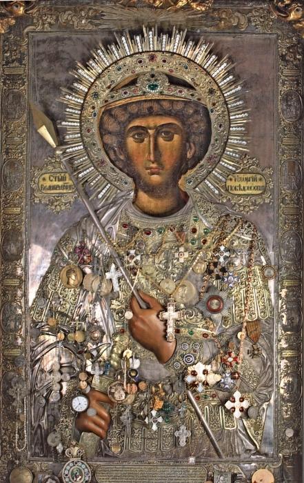 Икона Георгия Победоносца: фото, описание