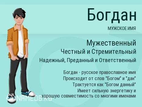 Богдан: что значит это имя, и как оно влияет на характер и судьбу человека